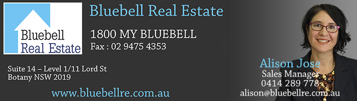 Contact Alison Jose at alison@bluebellre.com.au