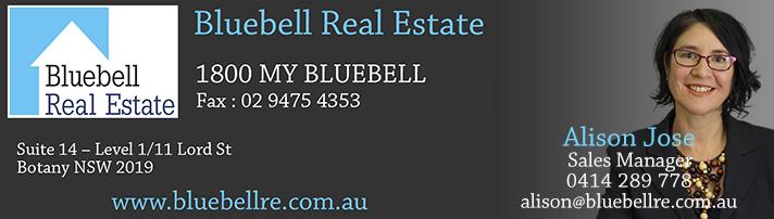 Contact Alison Jose at alison@bluebellre.com.au