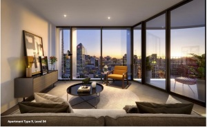 #9 Apartment Design living space and view