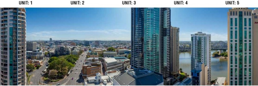 (above is view from Level 25 for Apartments 1-5)