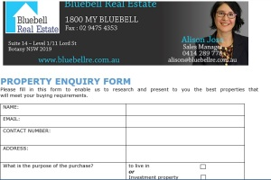 property enquiry form